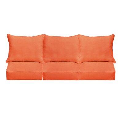 Indoor/Outdoor Sofa Cushion Fabric: Mandarin Orange