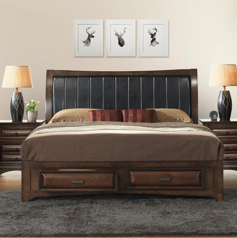 Charlton Home North Adams Upholstered Storage Platform Bed Reviews Wayfair