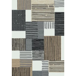 Buy clear Leech Gray/Ivory/Black Area Rug ByRed Barrel Studio