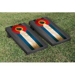 Victory Tailgate Onyx Stained Stripe Version Cornhole Game Set