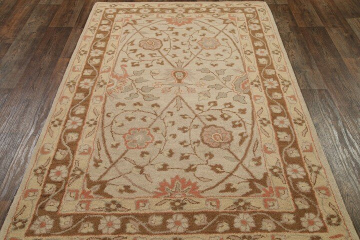 Canora Grey Bovill Agra Oriental Hand Tufted Wool Brown Area Rug Wayfair