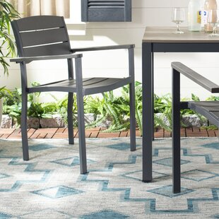 Cargile Stacking Patio Dining Chair (Set of 2)