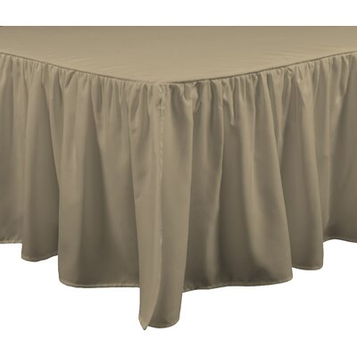 Brielle Stream 15 Bed Skirt Size: King, Color: Linen
