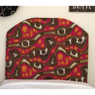 Zoomie Kids Hornbuckle Arched Twin/Twin XL Upholstered Panel Headboard