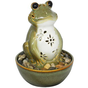 Unadilla Ceramic Frog Fountain With Light By Sol 72 Outdoor