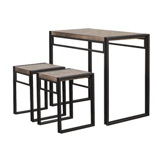 Williston Forge Chitwood 3 Piece Counter Height Dining Set