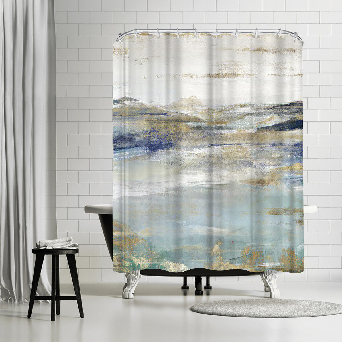 Picture of: East Urban Home Pi Creative Art Upon A Clear I Single Shower Curtain Wayfair