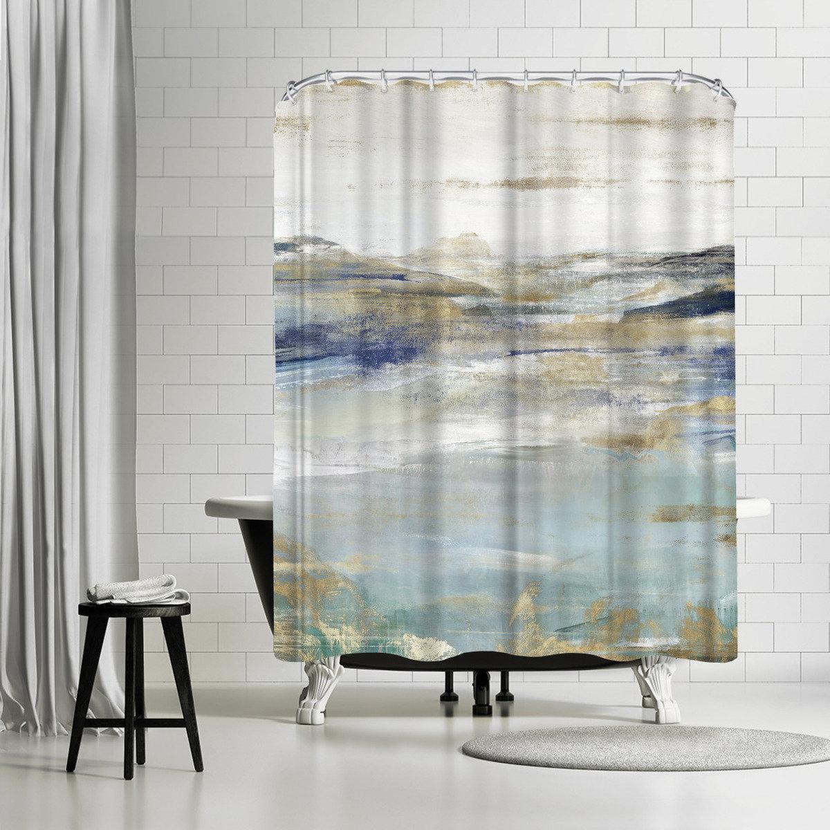 East Urban Home Pi Creative Art Upon A Clear I Single Shower Curtain Wayfair