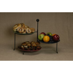 Triple Tiered Plate Stand  sc 1 st  Wayfair & Tiered Plate Rack | Wayfair