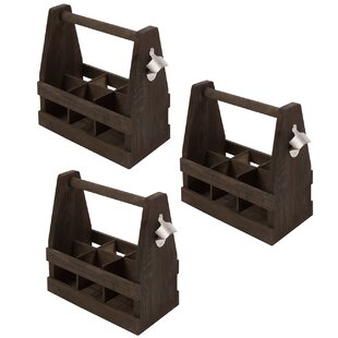 Wooden Caddy Tote Carrier (Set of 3)