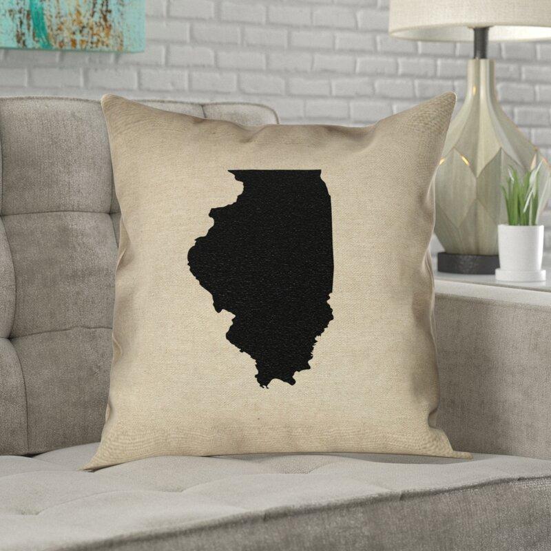 Ivy Bronx Kirkley Illinois Pillow In Poly Twill Double Sided Print Euro Pillow Wayfair