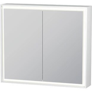 LCube Surface Mount Framed 2 Door Medicine Cabinet with LED Lighting by Duravit