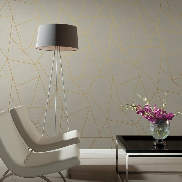 Nazca 32 8 L X 20 8 W Metallic Foiled Wallpaper Roll
