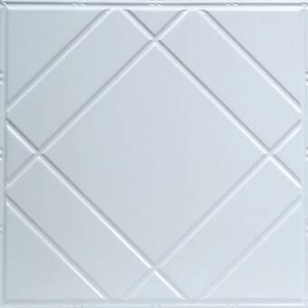 Shanko Pre Painted 24 X 24 Metal Tile In White Wayfair
