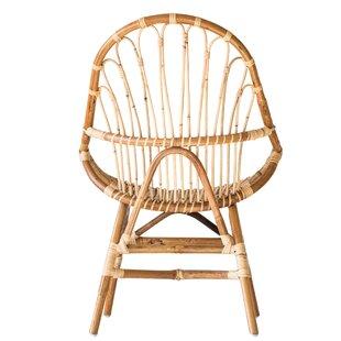 Tharp Handwoven Rattan Papasan Chair by Bayou Breeze