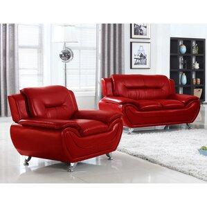 Latitude Run LDER5062 Arm Chair and Loveseat Set