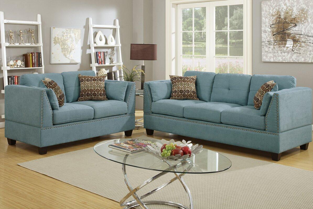 Bobkona Zenda 2 Piece Living Room Set Part 96