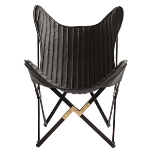 Eisenhauer Dyed Leather Foldable Butterfly Chair by Mercer41