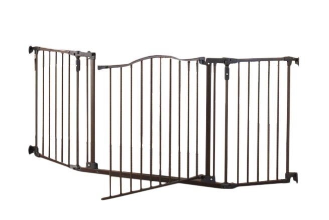 H Deluxe Decor Gate Steel Swings Open Both Sides Child-Proof Safety Latch 30 in