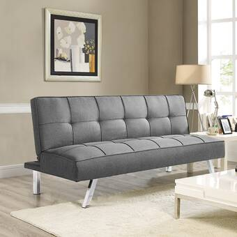 Brayden Studio Naschmarkt Twin Tufted Back Convertible Sofa Wayfair