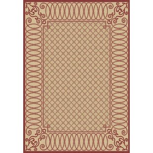 Paula Beige/Red Indoor/Outdoor Area Rug