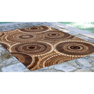 Michaella Circles Brown Indoor/Outdoor Area Rug