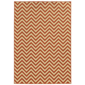 Heath Beige/Orange Indoor/Outdoor Area Rug