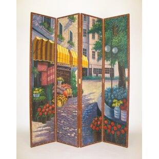 Red Barrel Studio Hersh 4 Panel Room Divider