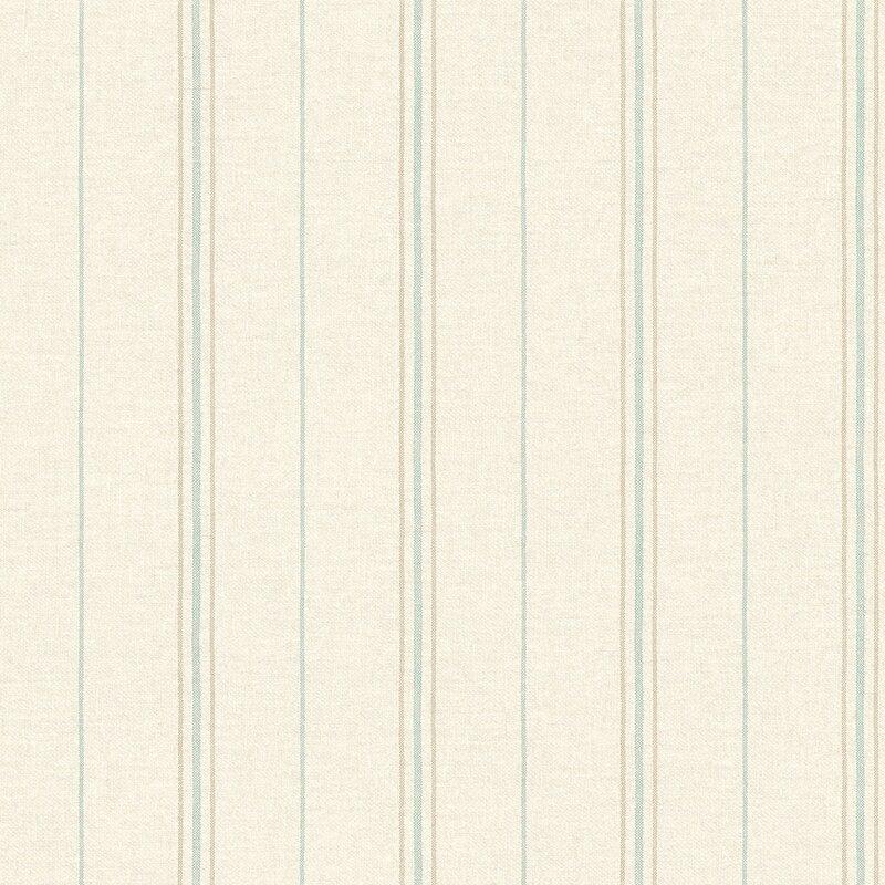 "Sheila Grain Sack Stripe 33' L x 20.5"" W Wallpaper Roll"