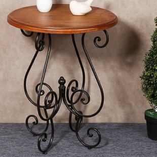 Eckhardt Scroll End Table by Fleur De Lis Living