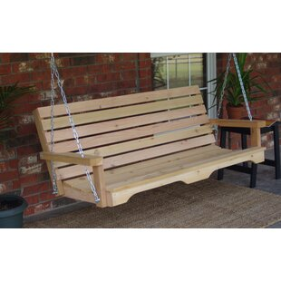August Grove Galvez Cedar Porch Swing
