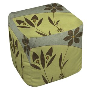 Graphic Garden Selene Ottoman by Manual Woodworkers & Weavers