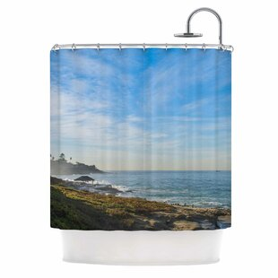 Blue Sky Over The Ocean by Nick Nareshni Coastal Single Shower Curtain