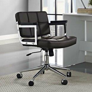 Orren Ellis Baderbräu Mid Back Upholstered Office Chair