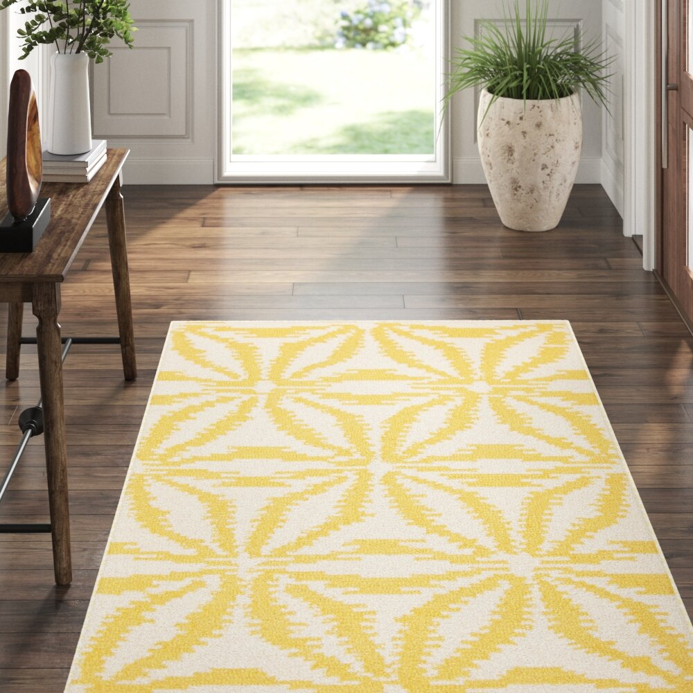 Dash And Albert Rugs Aster Ikat Looped Wool Gold Area Rug Perigold