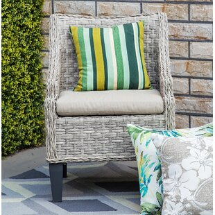 Carlson Patio Chair With Cushion (Set Of 2) by Rosecliff Heights New