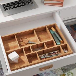 Affordable 1.75H x 17.5W x 12D Drawer Organizer By Rebrilliant