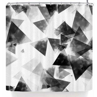 East Urban Home Monica Martinez Inky Triangles Shower Curtain
