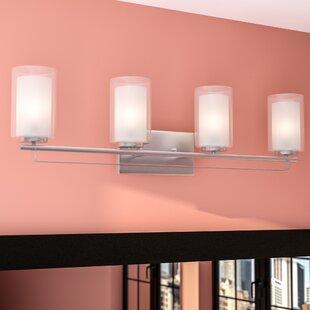 Deals Bensenville 4-Light Drum/Cylinder Vanity Light By Mercury Row