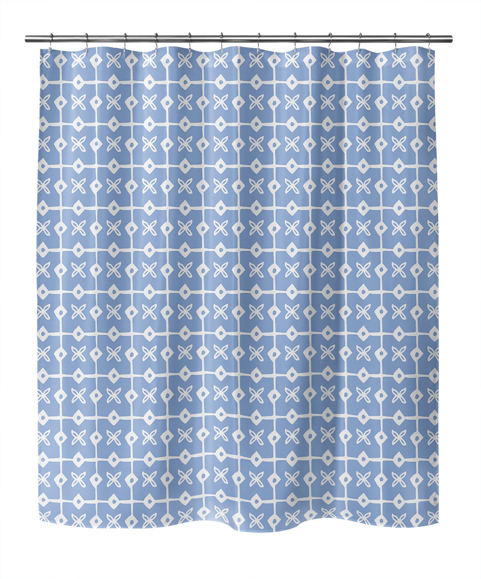Ebern Designs Aavyn Geometric Shower Curtain Wayfair