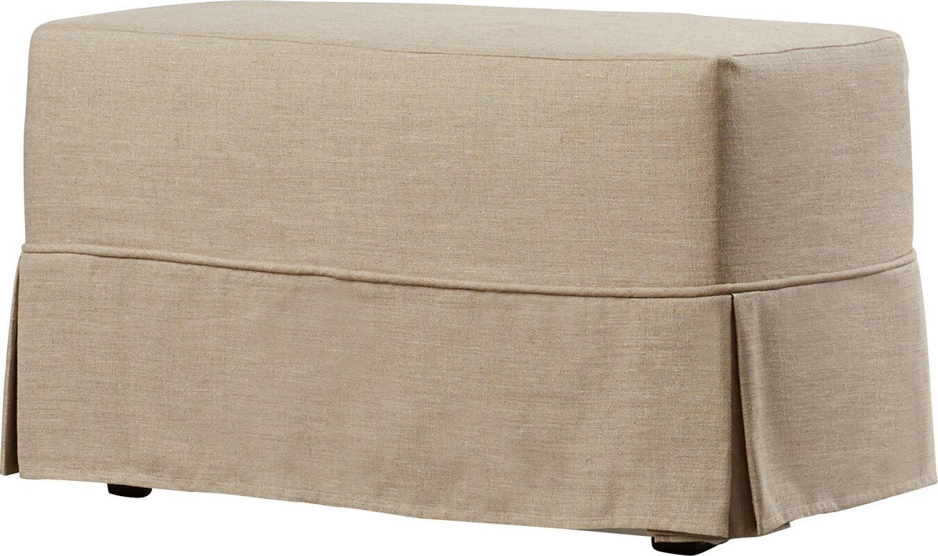 Twin Bridges Upholstered Bench #linenbench #linenottoman
