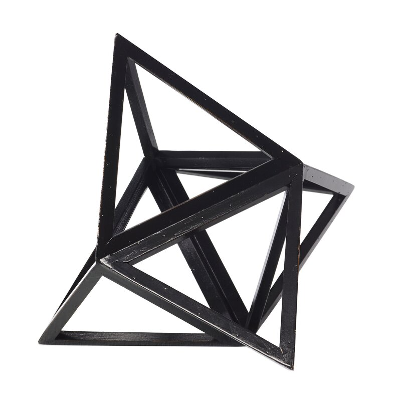 Authentic Models Da Vinci Elevated Tetrahedron Platonic Sculpture