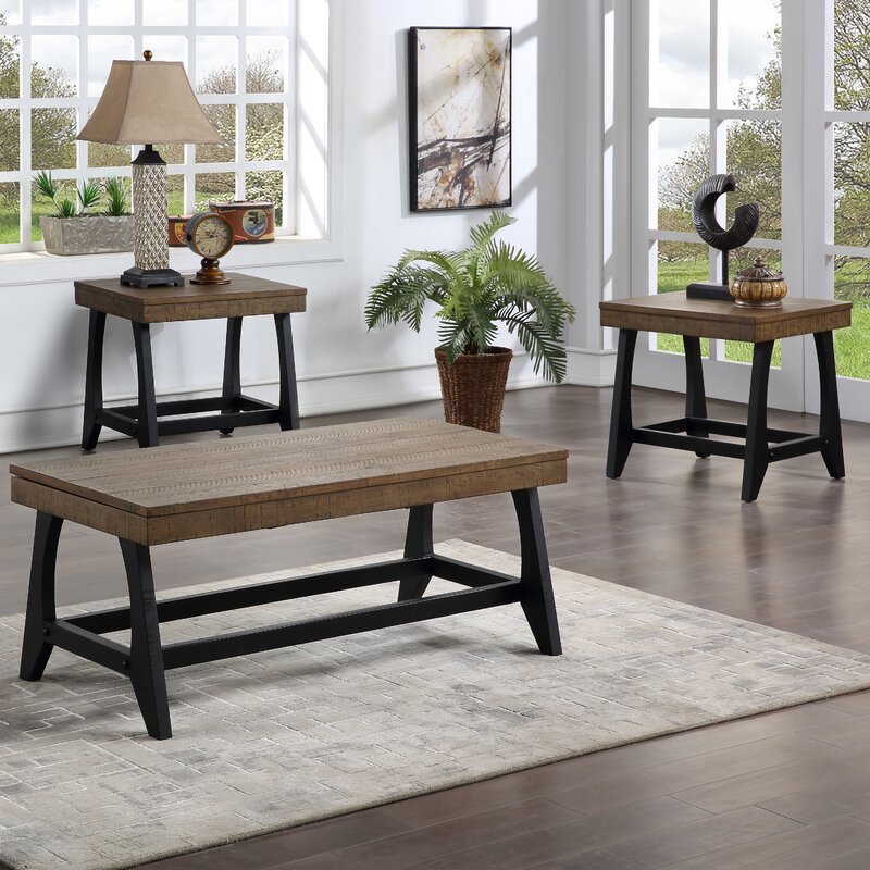 Red Barrel Studio Arann 3 Piece Coffee Table Set Reviews Wayfair