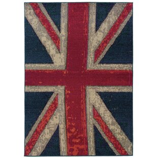 Compare Daphne Union Jack Navy/Pink Area Rug By Trent Austin Design
