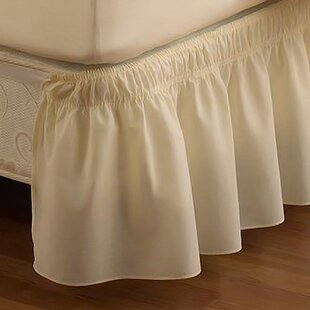 EasyFit Wrap Around Solid Ruffled 15 Bed Skirt