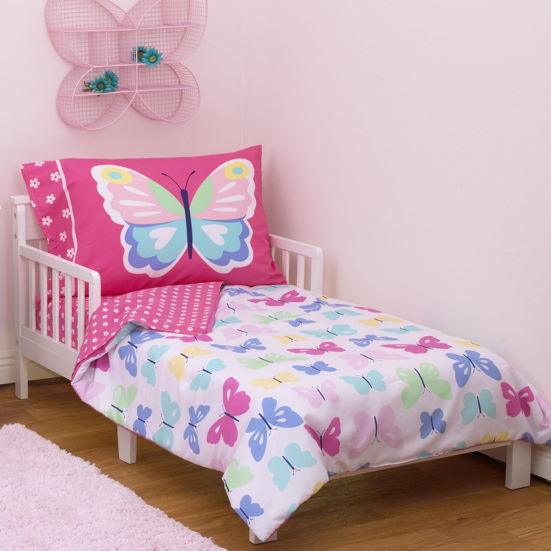 carters butterflies 4 piece toddler bedding set reviews wayfair - Toddler Bedding Set