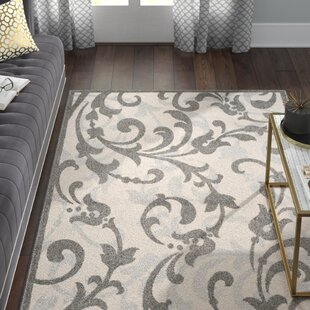 Maritza Power Loomed Ivory/Gray Indoor/Outdoor Area Rug