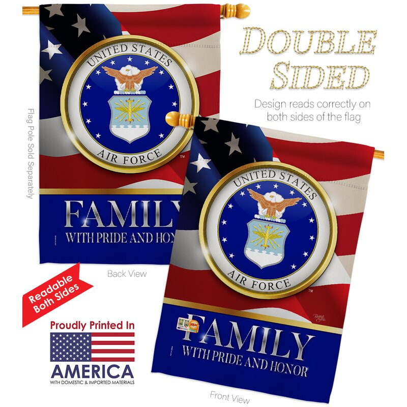 Breeze Decor 2 Piece Us Armed Forces Family Honor Impressions Decorative 2 Sided Polyester 40 X 28 In House Flag Set Wayfair