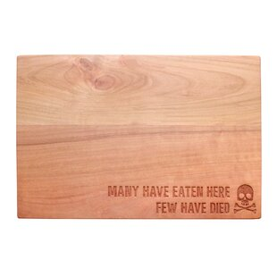 Many Have Eaten Here Cherry Wood Cutting Board