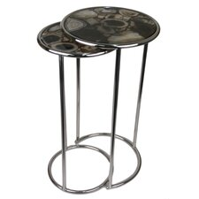 Agate Round 2 Piece Nesting Table by Jodhpuri
